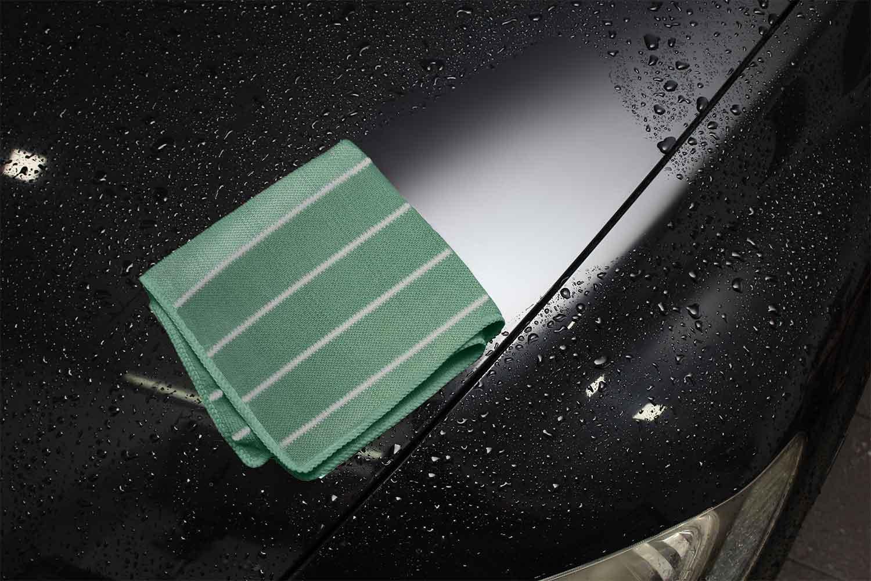 auto polieren mit dem bambustuch