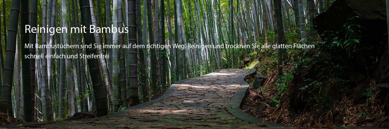 reinigen mit bambus